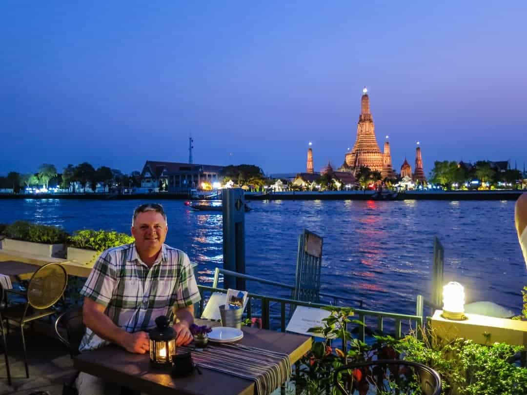 best place to watch sunset in Bangkok and dinner