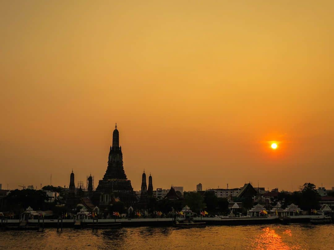 best place to watch sunset in Bangkok from the east bank