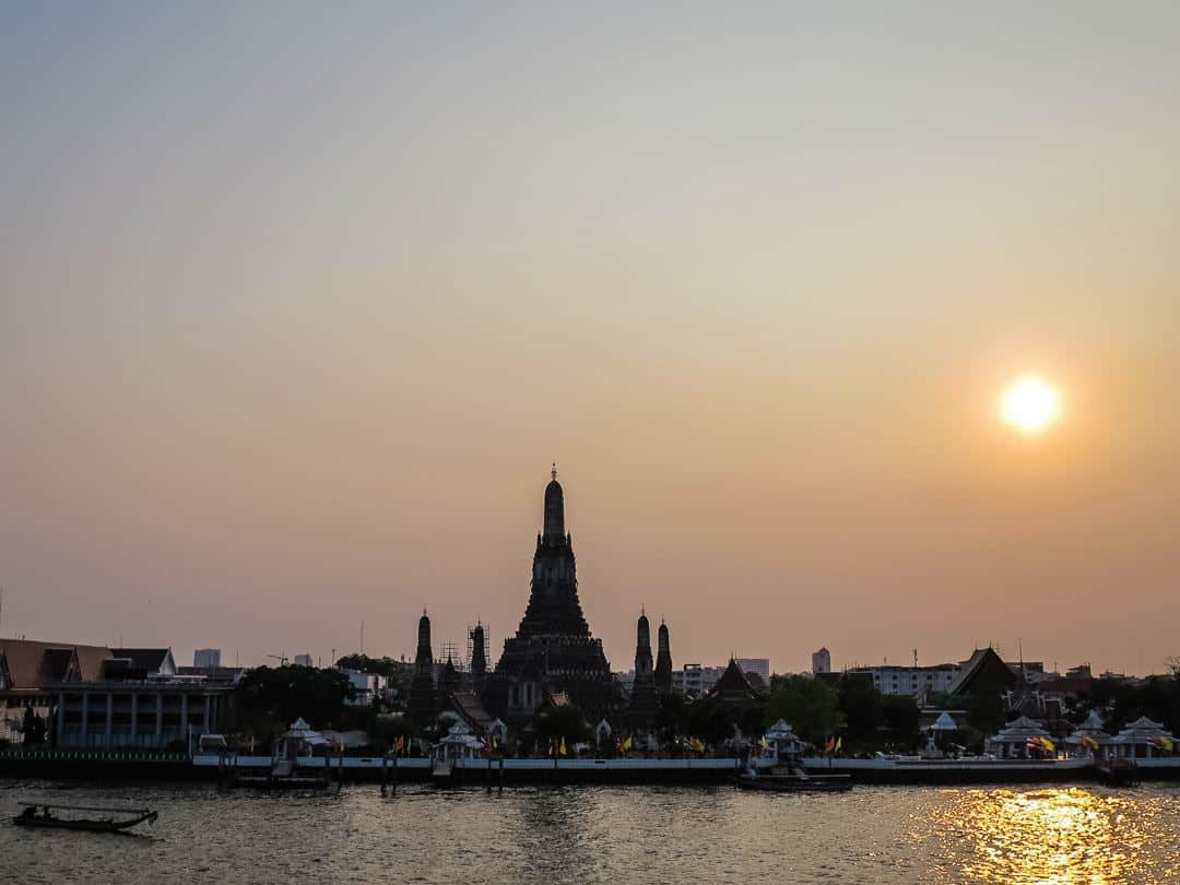 best place to watch sunset in Bangkok on the river
