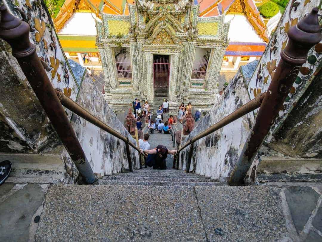 steep stairs at Wat Arun