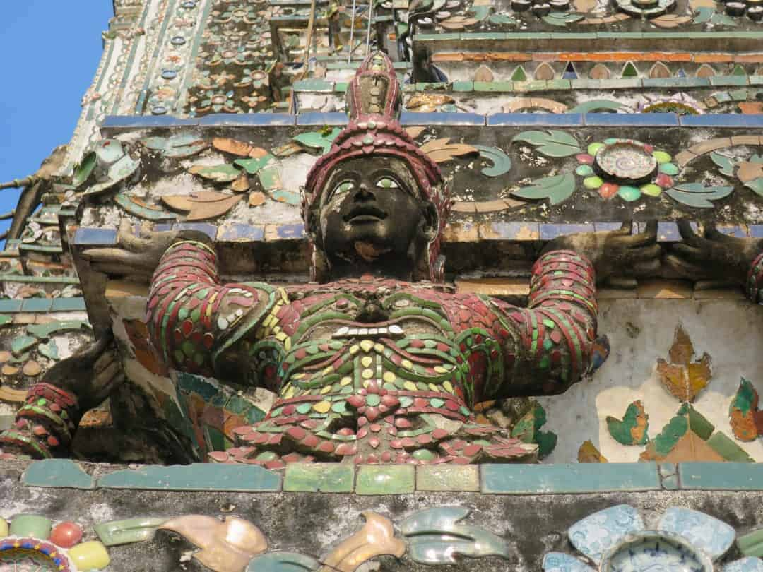 tiled face of Wat Arun
