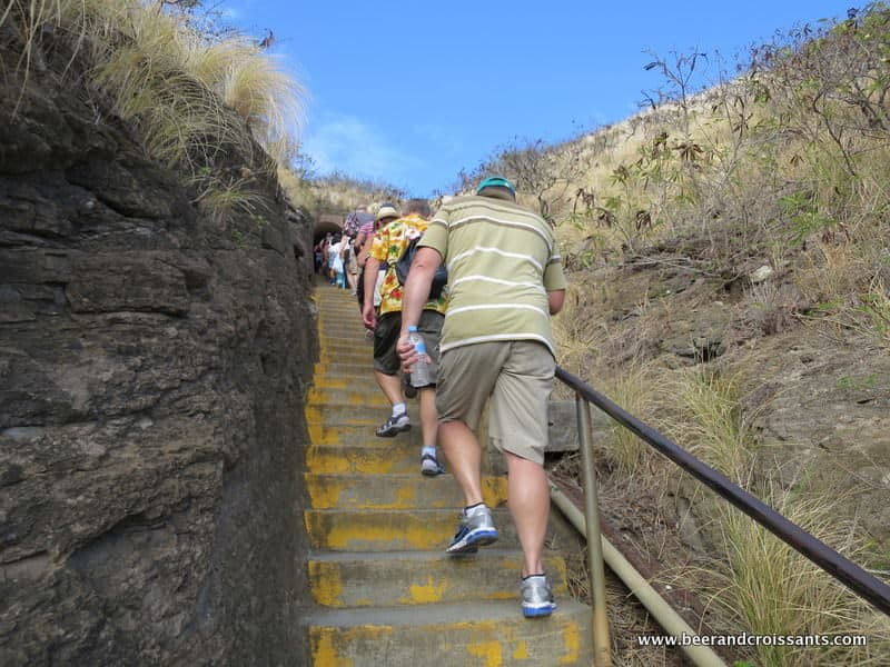 Walking up the stairs at Diamond head