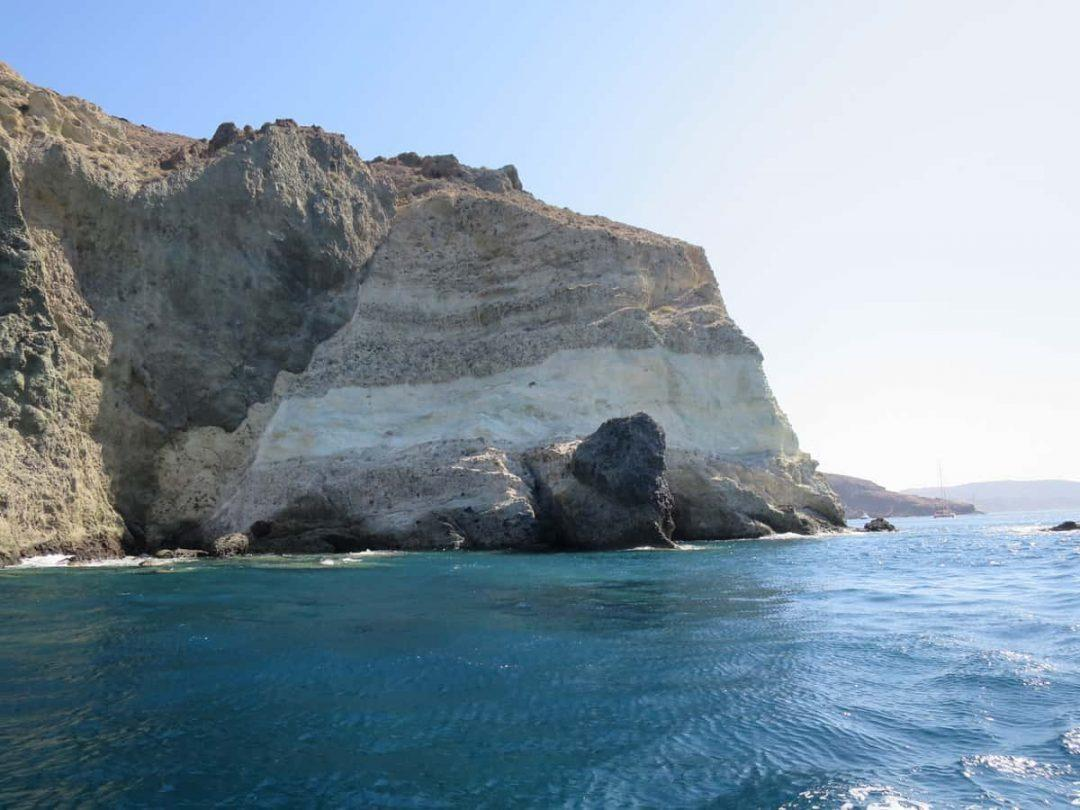 The incredible rock formations of White Beach best beaches on Santorini
