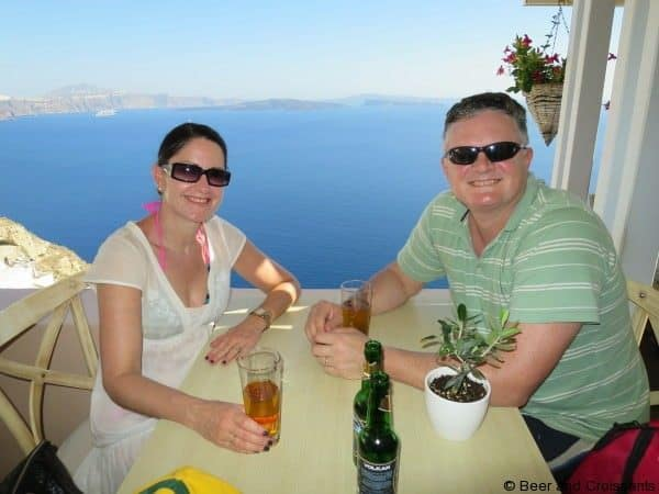 Volcanoes and thermal springs on Santorini