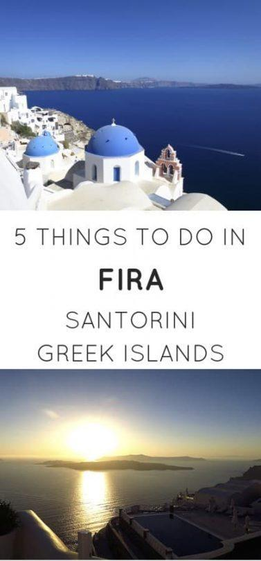 Top things to do in Fira Santorini