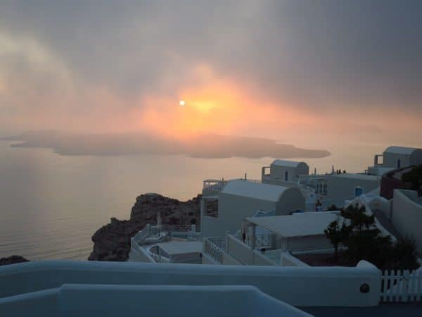 Fog at Santorini
