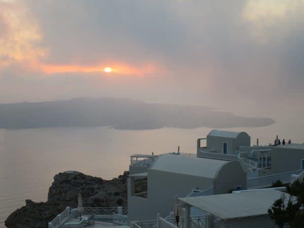 Santorini fog
