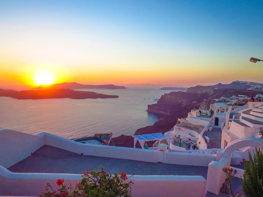 Santorini Greek Islands sunset