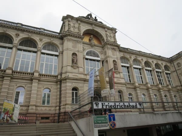 The beautiful building that contains the Friedrichsbad Baths
