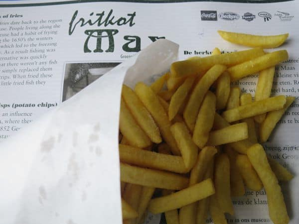 eating real belgian fries