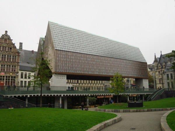 The bright and shiny City Pavilion in Ghent