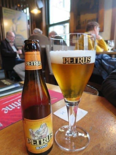 Petrus a local beer in Ghent
