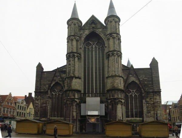 The front entrance of St Nicholas' Church in Ghent