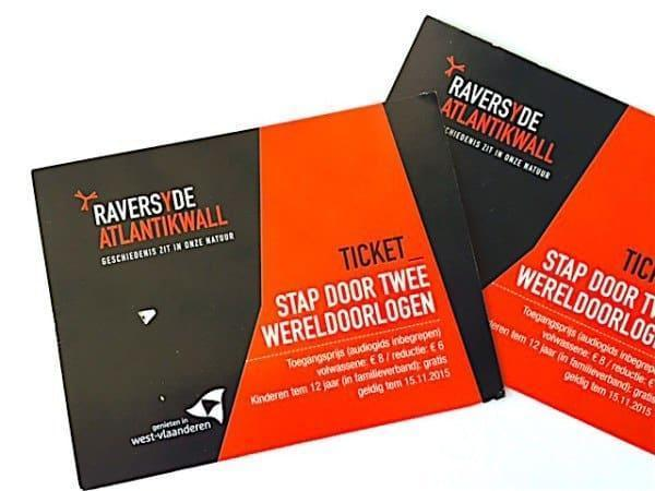 Entrance tickets to Atlantic Wall Ostende