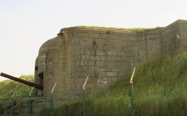 Atlantic Wall gun and bunker
