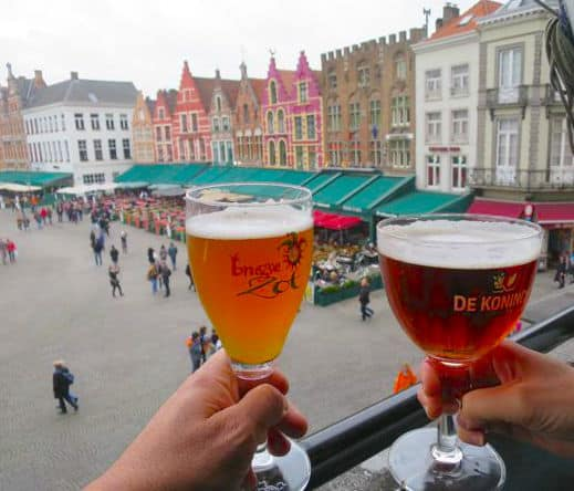 Drinking beers at the duvelorium in Bruges 24 hours in Bruges