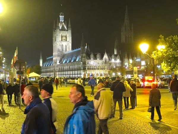 The Cloth Hall by night Ieper