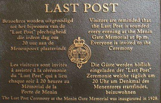 The Last Post Menin Gate