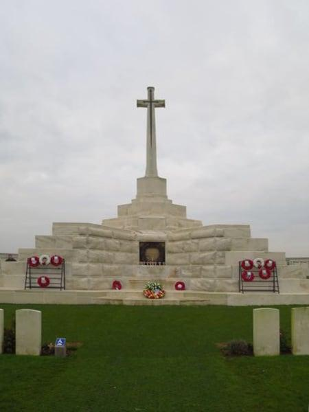 The Cross of Sacrifice Tyne Cot Cemetery