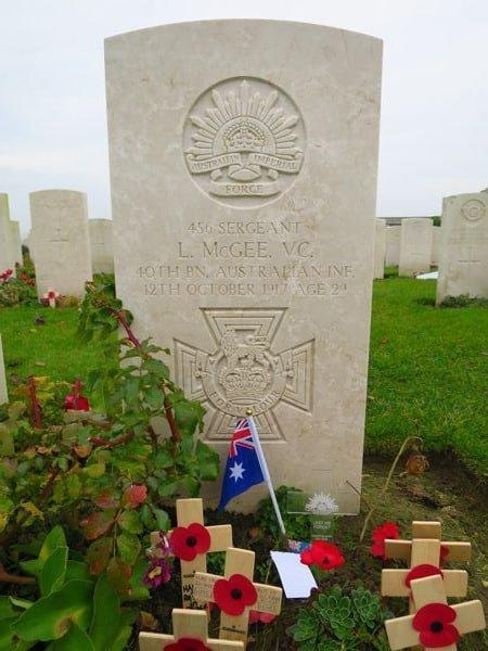 An identified Australian soldier at Tyne Cot Cemetery