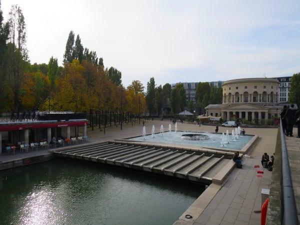Place de Stalingrad in the background. This is the start of the Bassin de la Villette.
