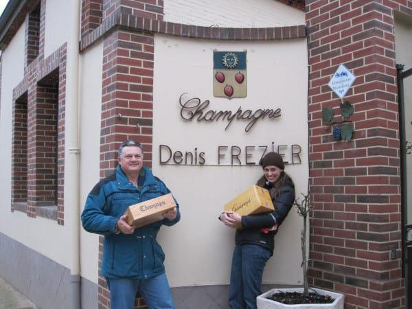 Champagne purchases at Denis Frezier