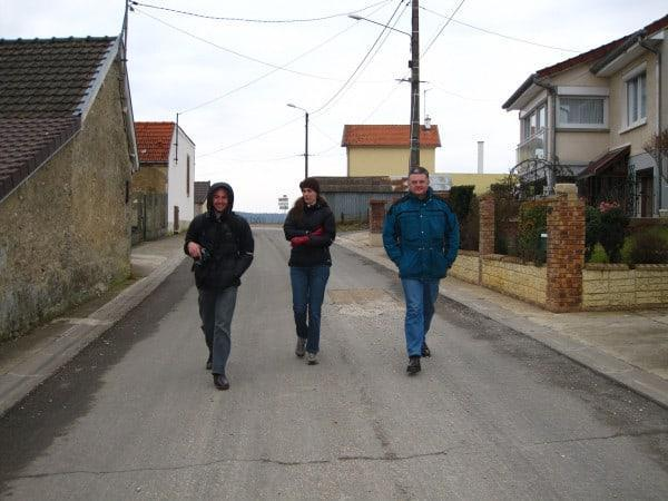 Walking through the town of Monthelon in 2012