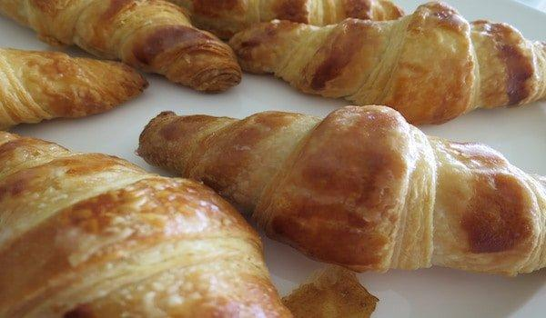 Croissants made in cooking class in Paris