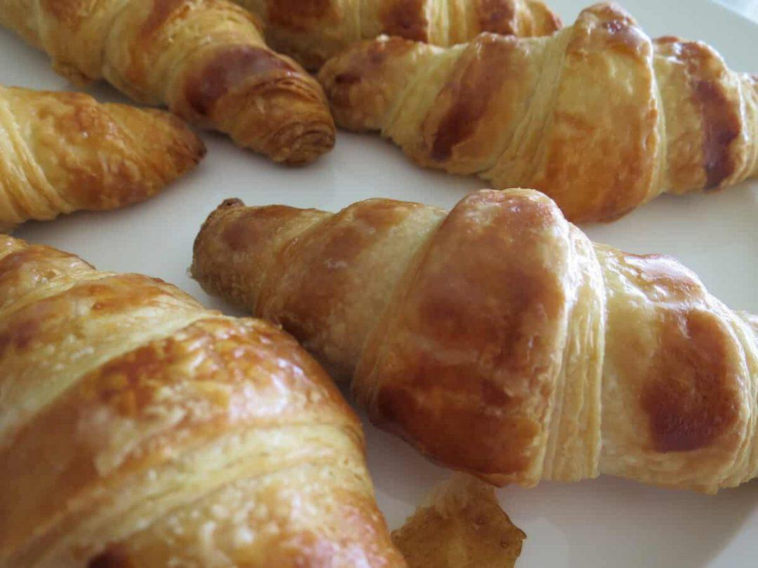 Making croissants at cooking classes in Paris