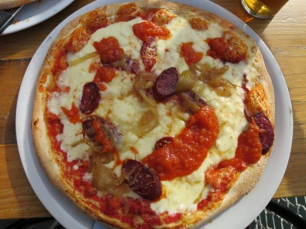 Pizza at the Paname Brewing Company Paris