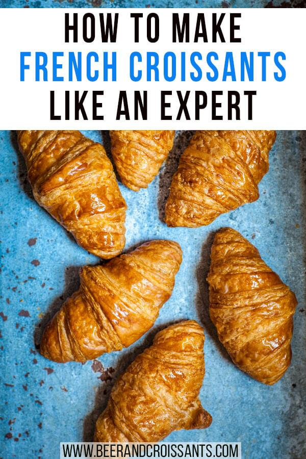 croissants on blue background
