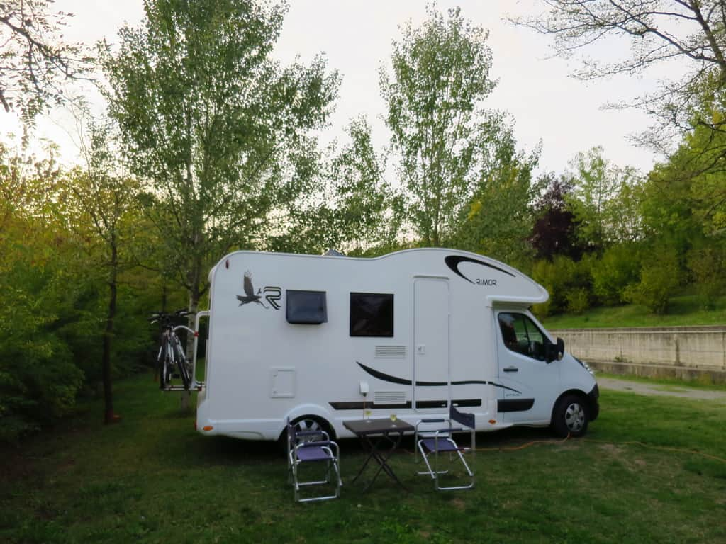 Camping at Tabiano near Parma -
