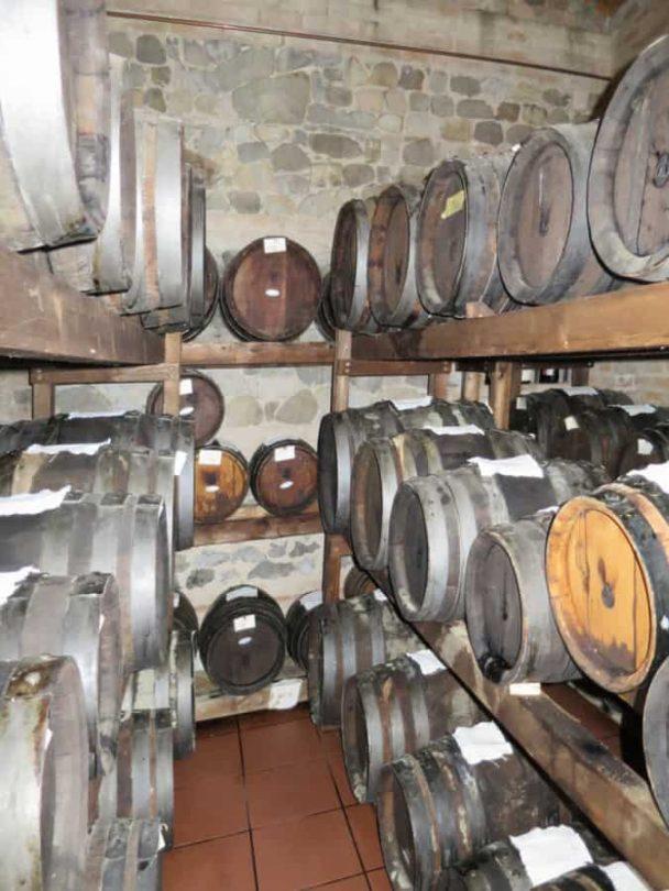 Barrels of Modena Balsamic Vinegar