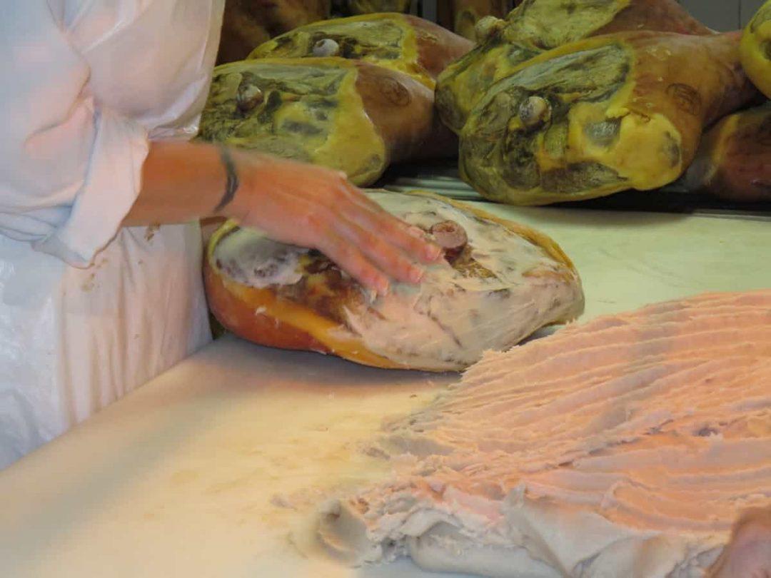 Parma hams on Italy FoodTour