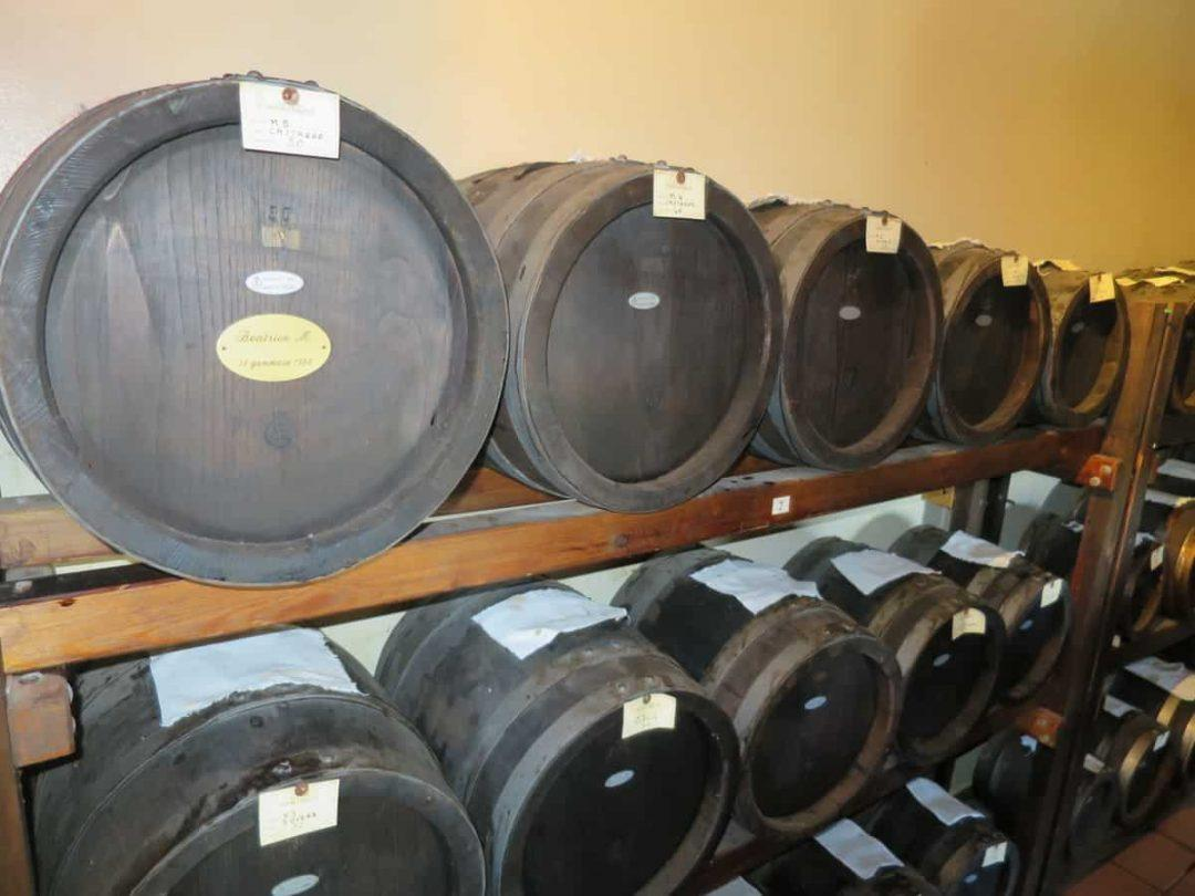 Barrels in the ageing room Modena Balsamic Vinegar