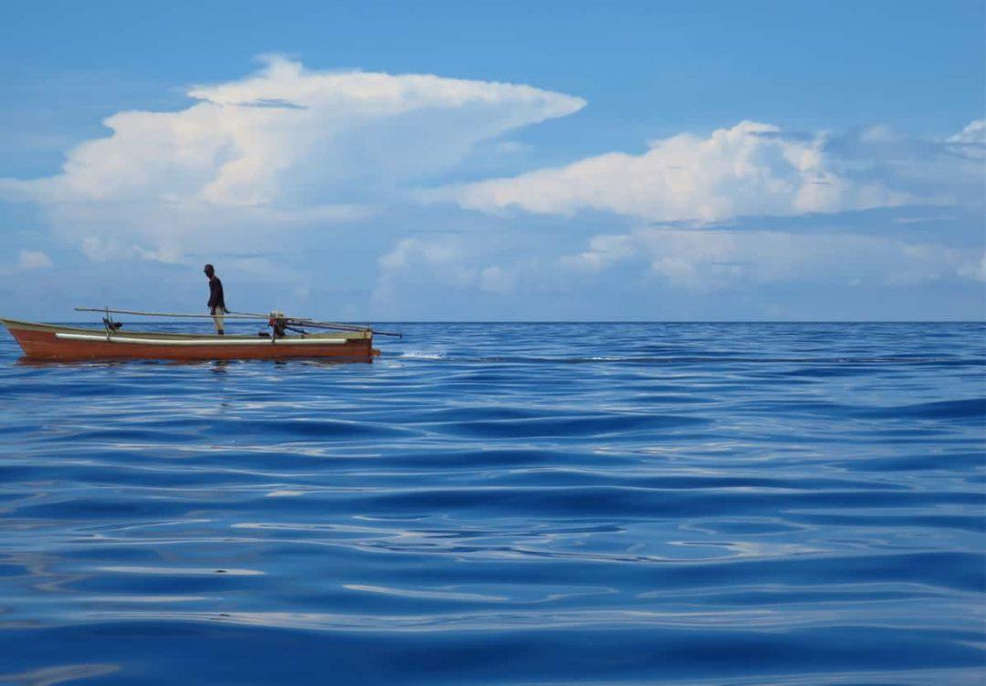 A local fisherman making his way back home Bunaken Island