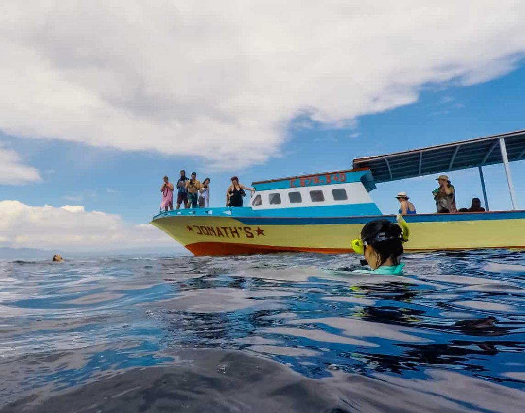 Snorkelling boat at Bunaken Island