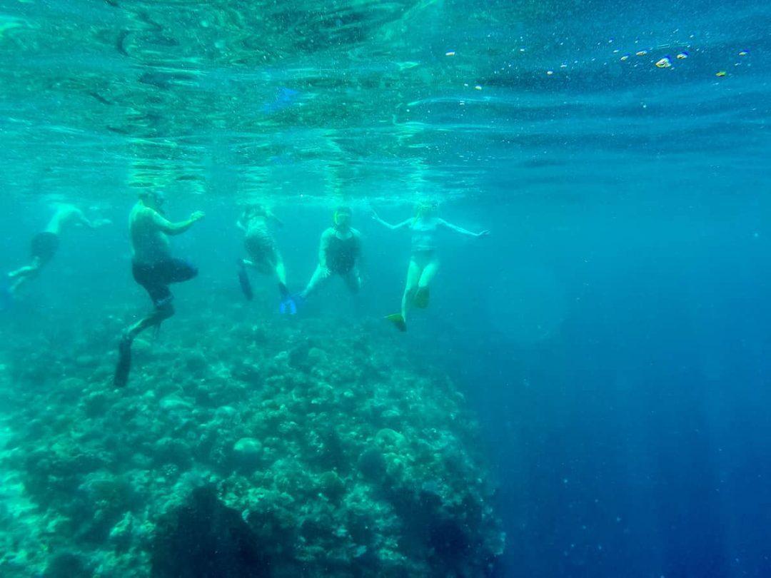 Underwater snorkellers at Bunaken Island
