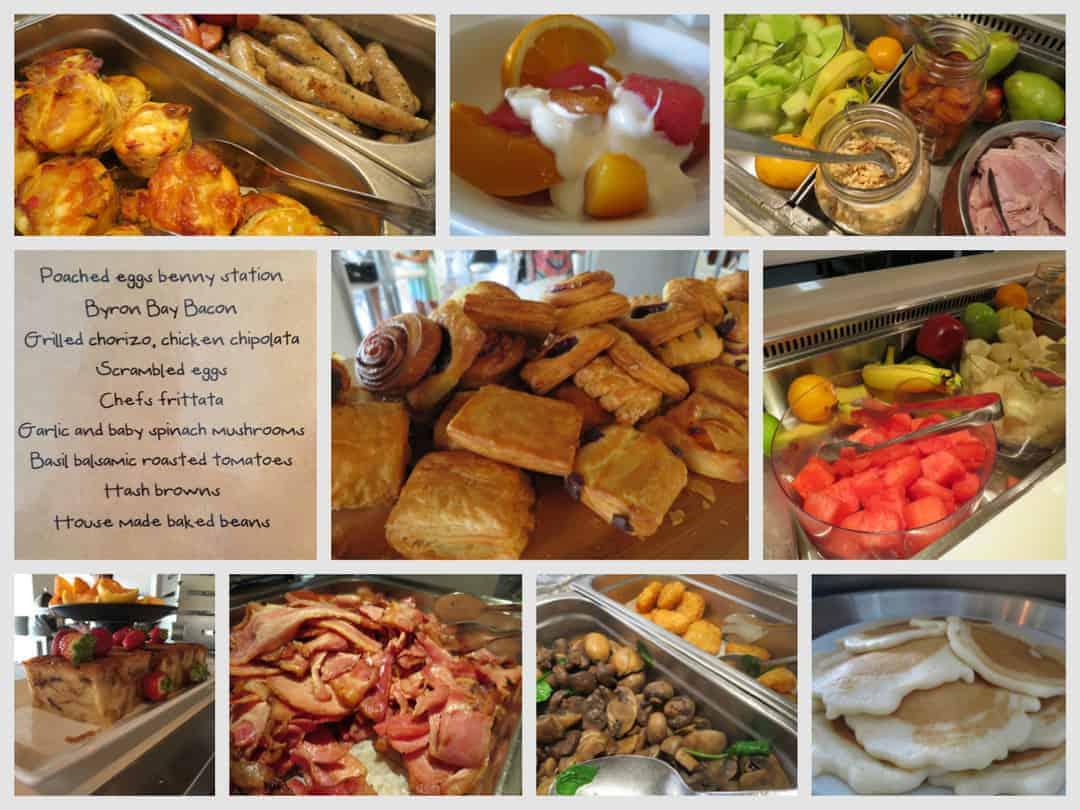The myriad of breakfast options at Peppers Salt Resort
