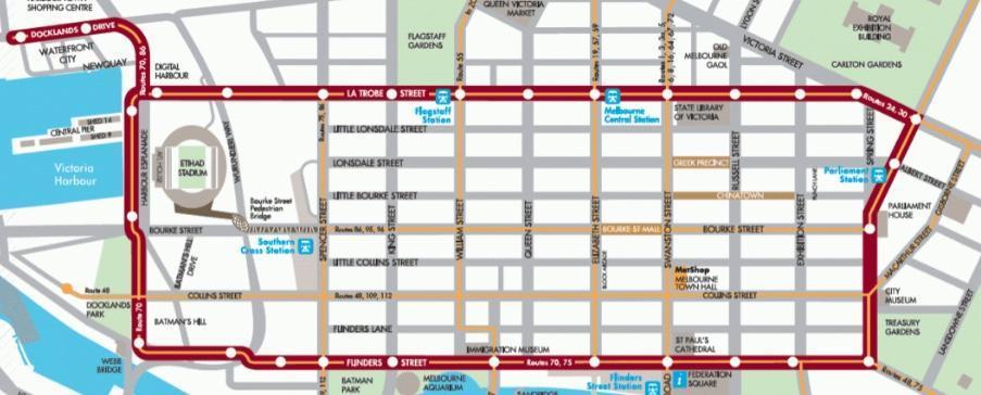 city circl map melbourne
