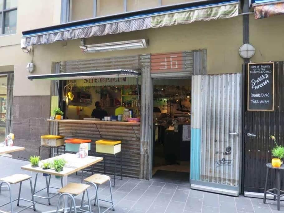 coffee shop in melbourne laneway