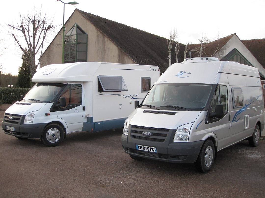 Two campervans travelling together