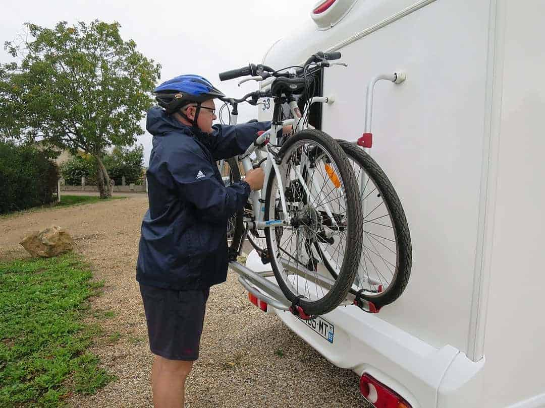 what's inside a campervan - bikes