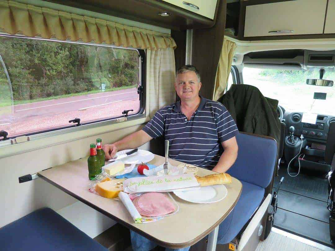 Dining area- what's inside a campervan