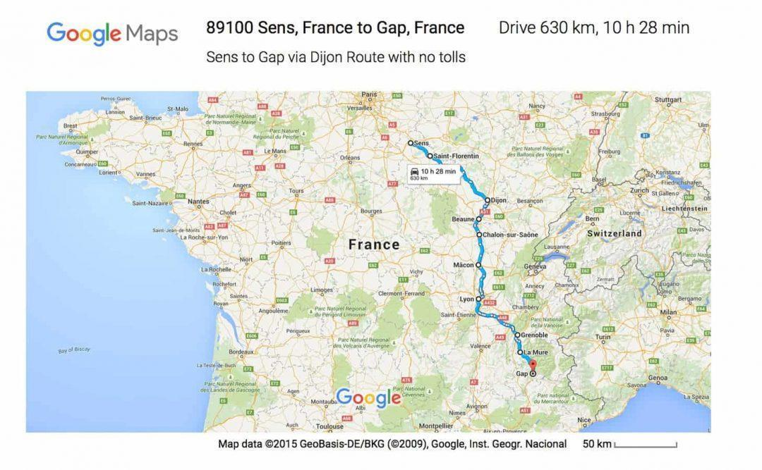Google maps for campervan planning for beginnners
