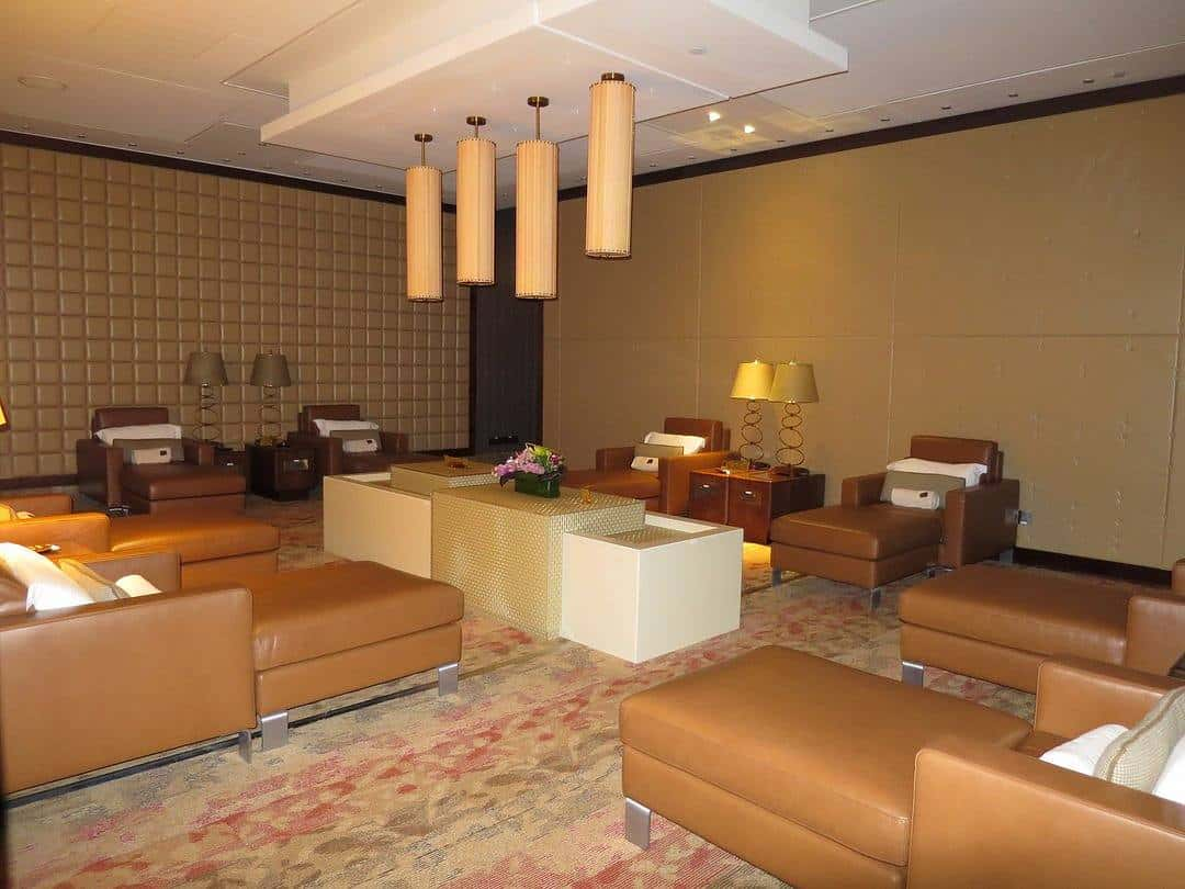 Quiet rooms at the Emirates First Class Lounge Dubai