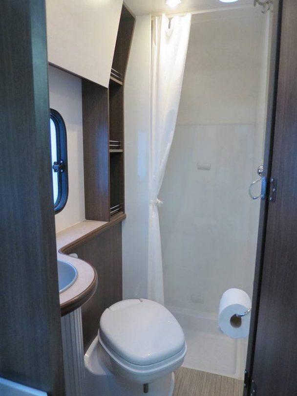 The bathroom what's inside a campervan
