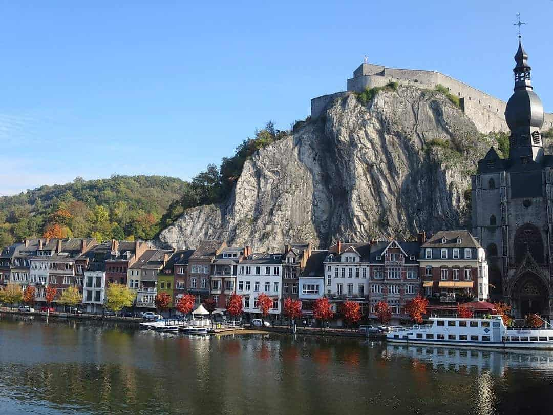 along the river in Dinant - 5 best cities in Belgium