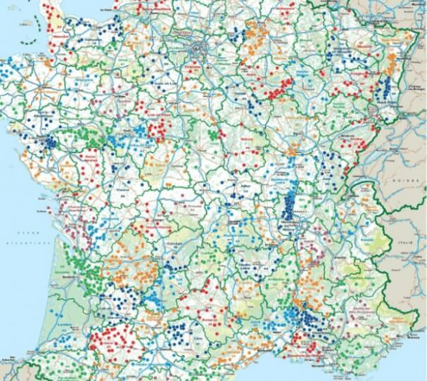 France Passion map
