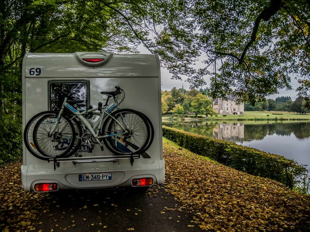 696e3e452c motorhome at chateau france-Essential packing list for campervan hire